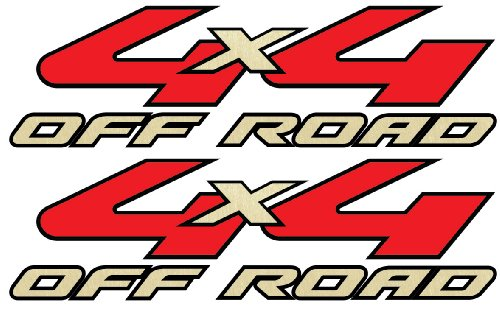 4x4 Decals - 2008 to 2010 Ford Style (Gold)