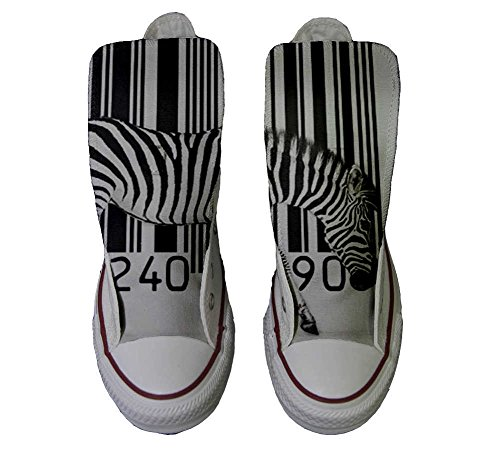 Converse All Star Customized - zapatos personalizados (Producto Artesano) Zebra Barcode