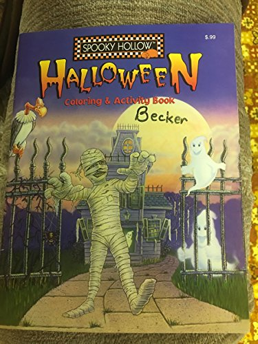#8757709176 Spooky Hollow Halloween Coloring & Activity Book 1998 -