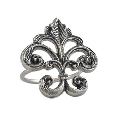 (Napkin Ring - Fleur de Lis - Ornate Design - Metal)