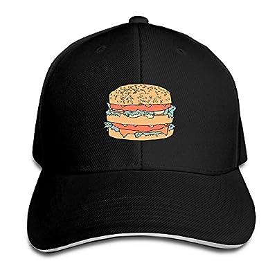 Big Hamburger Custom Sandwich Peaked Cap Unisex Baseball Hat