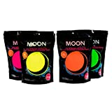 Moon Glow - 400g UV Paint Powder Set of 4 - Neon Special Effects Paint Party Powder Concentrate - Makes up to 160 Litres! by Moon Glow