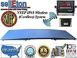 Selleton Ntep Floor Scale 60'' X 60'' (5' X 5') Wireless Cordless 2 Ramp 10000 Lbs X 2 Lb