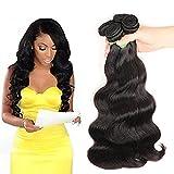 Wendy Hair 8A Grade Brazilian Virgin Body Wave Hair Bundles 3 Bundles (18 20 22 inch,300g) 100% Unprocessed Human Hair Extenions Natural Black Wefts For Lady