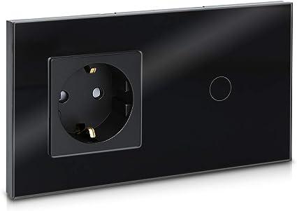 Verre Touch Einschalter-et interrupteur//bascules en blanc