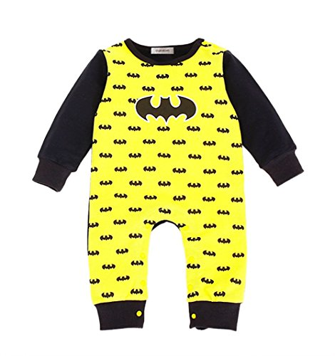 80's Heroes Costumes (StylesILove Super Hero Baby Toddler Boy Costume Jumpsuit (80/12-18 Months, Batman))