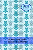 2019 2020 Turtle Tortoise Pocket Calendar: Mini Monthly Journal With Address Book & Notes Section; Two Years Planner; Purse Notebook With Inspirational Quotes; Small Little Diary To Write Daily Goals