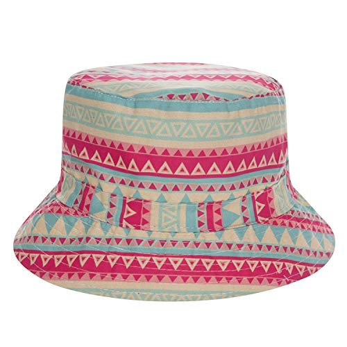 - 2019 Summer Harajuku Flat Bucket Hats 3D Printed England Style Beach Hat Hip Hop Tartan Aztec Cops Women Girls