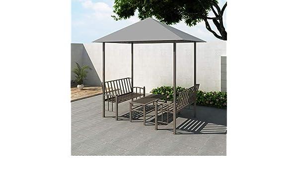 Tidyard Garden Gazebo Set 2.5 x 1.5 x 2.4 m Antracita Gazebo with ...