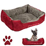 """Best  - Pet Bed Rectangle Plush Soft Suede Cuddler, 22"""" Review"""