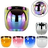 #6: Ocamo Retro 3-snap Sunscreen Sun Shield Visor Bubble Mirro for Motorcycle Helmet Face Lens