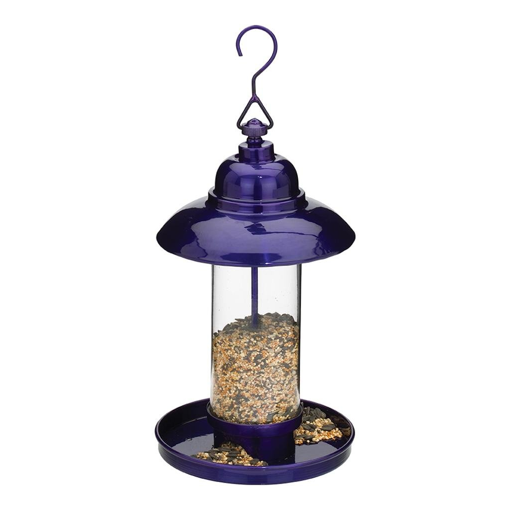 Regal Art & Gift 6.5 Inches x 6.5 Inches x 14.25 Inches Bird Feeder Classic Purple Garden Decor