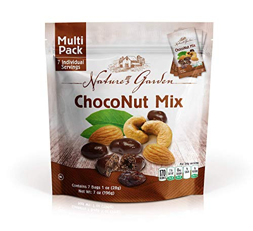 Natures Garden Choco-Nut Snack Mix, Single Serve 1-Ounce (Pack of 7)