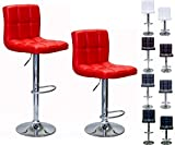 Viscologic Liberty Swivel Leatherette Adjustable Hydraulic Bar Stool, Set of 2 (RED) Review