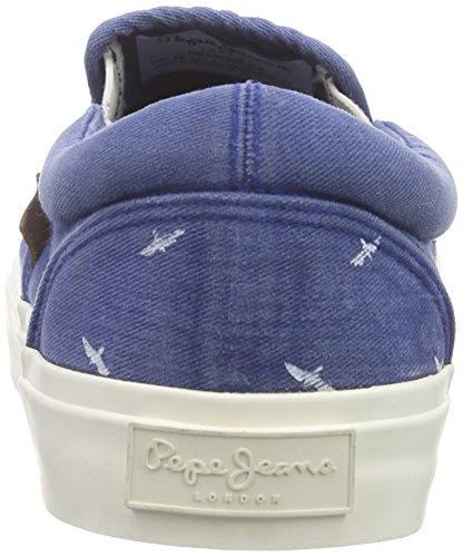 Pepe Jeans Harry Elastic Birds, Baskets Basses Homme Bleu - Blau (572forces)