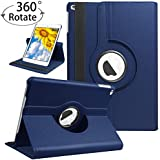 """Case for iPad Air/iPad Air 2 Case 9.7 inch with Rotating Stand, PU Leather Full Body Protective Cover with Auto Sleep Wake for Apple iPad 2017/2018 9.7"""" - Navy Blue"""