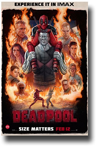 Deadpool Movie Poster - Imax Promo Flyer 11 X 17 Collage
