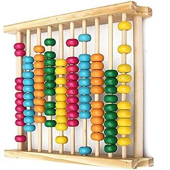 Baby Kids Wooden Abacus Toys Computing Calculator Math Learning Tool // Bebé niños calculadora computación matemáticas herramienta madera enseñanza