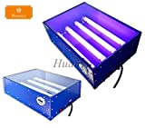 Huanyu 4632 Small-scale UV Exposure Unit Machine Screen Printing Plate Making Silk Screening Machine with 4 Light Tubes, 18''12'' (110V)