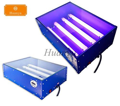 Huanyu 4632 Small-scale UV Exposure Unit Machine Screen Printing Plate Making Silk Screening Machine with 4 Light Tubes, 18''12'' (110V) by Huanyu Instrument
