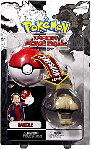 Pokemon Black White Toy Plush Series 2 Throw Poke Ball Sandile 봉제인형 인형 병행수입