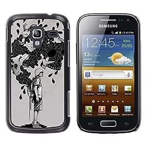 LECELL--Funda protectora / Cubierta / Piel For Samsung Galaxy Ace 2 -- La bolsa de trucos --