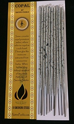 Native Copal Incense 100% Pure White Copal Healing Smoke Mayan Smudging Spiritual Protection Cleansing Incienso Hand Rolled By Pueblo, Family Owned