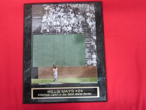 - Willie Mays Famous 1954 World Series Catch Collector Plaque w/8x10 Photo COLORIZED
