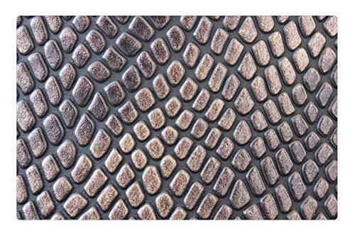 Tree26 Indoor Floor Rug/Mat (23.6 x 15.7 Inch) - Skin Texture Crocodile Macro Wallpaper Background ()
