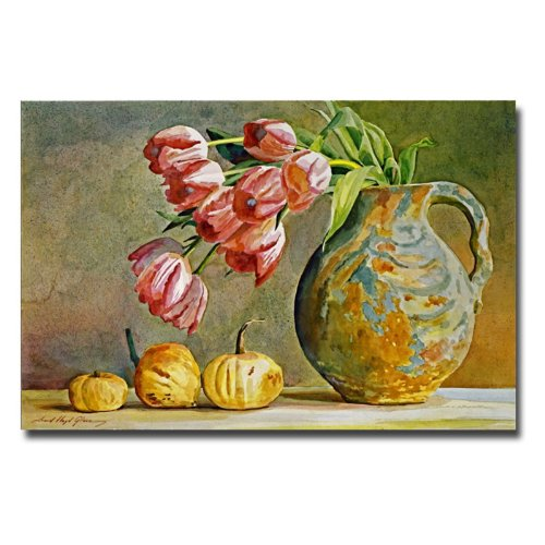 Soft Tulips In The Pottery David Lloyd Glover Canvas Wall Art