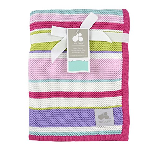 Just Born Knit (Just Born Sweater Knit Blanket, Pink)