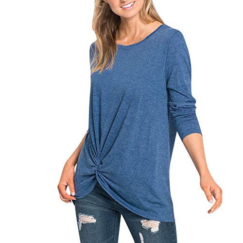 Sunmoot Clearance Sale Short Sleeve T-Shirt for Womens Long Sleeve Sleeveless Tunic Tops Spring Summer Off Shoulder V-Neck 3/4 Sleeve Sleeveless Knot Front Casual Loose Cotton Cold Shoulder Blouse