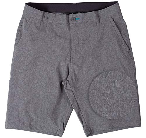 Burnside Hybrid Essentials Shorts for Mens Dry Fit Men Swim Trunks 32 Charcoal (Weight Board)