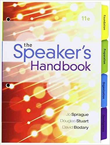 public speaking handbook loose leaf edition 6th edition
