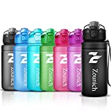 Best Sports Water Bottle Leak Proof 1L/700ml/500ml Plastic Drink Bottles|Kids,Adults,Gym,School,Sport,Cycling|with Times to Drink & Fruit Infuser & Lock Cover Filter|BPA Free Reusable Large 32OZ