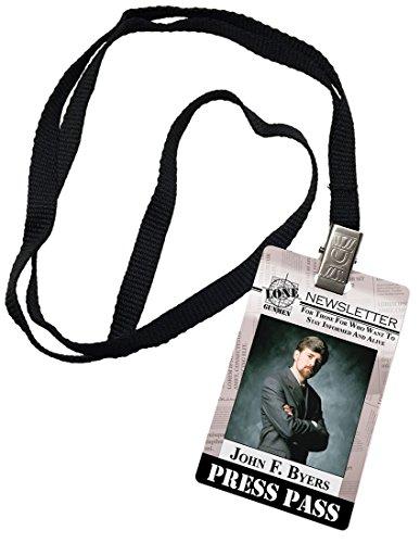 X Files Costumes (John Byers Press Pass Lone Gunmen X-Files Novelty ID Prop Costume)
