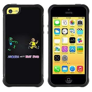 KEIZZ Cases / Apple Iphone 5C / Zombie Killing Guide - Funny / Robusto Prueba de choques Caso Billetera cubierta Shell Armor Funda Case Cover Slim Armor
