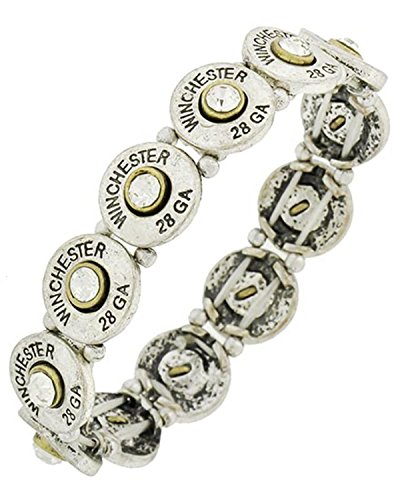 Scl Boot (Western Theme 28ga Winchester Stretch Bracelet for Women / AZBRST082-SCL)