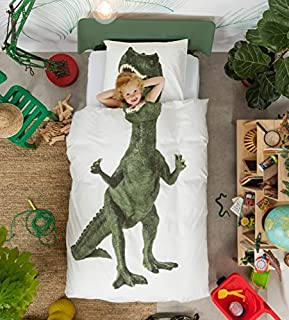 Dinosaur Duvet Cover and Pillow Case Set for Kids by SNURK \u2013 Full / Queen & Amazon.com: TWIN GREEN DINOSAUR DUVET SET QUILT COVER: Home \u0026 Kitchen