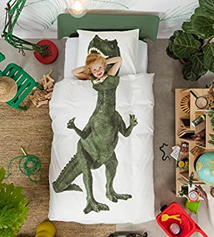 Dinosaur Duvet Cover And Pillow Case Set For Kids By Snurk – Full / Queen by Snurk