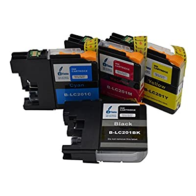 iTinte Compatible Brother LC 201 Ink Cartridges to be Used in Brother MFC-J460DW MFC-J480DW MFC-J485DW MFC-J680DW MFC-J880DW MFC-J885DW - 100%! Holiday Huge Sales!