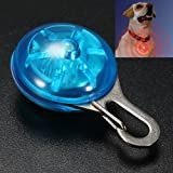 MECO(TM) Blue Dog Safety LED Light Clip for Collar Peg Cat Night