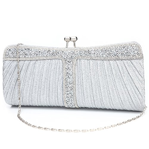Rhinestone Clutch Purses for Women Purses and Handbags Crossbody Purses for Women Formal Wedding Party Prom Purse