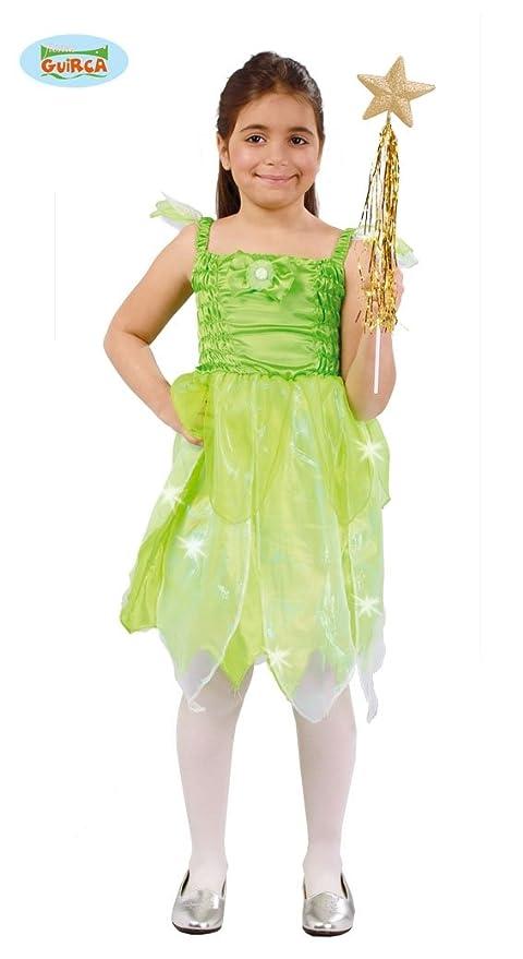 6ba370b5c40 Disfraz de Hada del Bosque verde para niña  Amazon.es  Juguetes y juegos