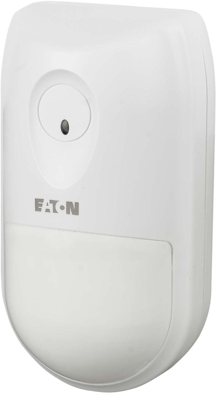 Eaton 104921 detector de movimiento Sensor infrarrojo pasivo (PIR) Inalámbrico - Sensor de movimiento (Sensor infrarrojo pasivo (PIR), Inalámbrico, 2,2 m, ...
