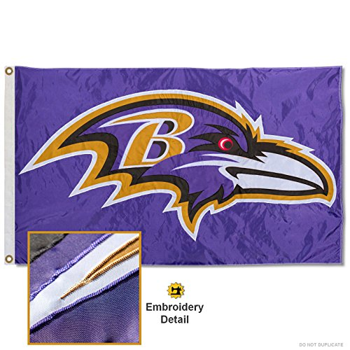 Baltimore Ravens Embroidered Football (Baltimore Ravens Embroidered Nylon Flag)