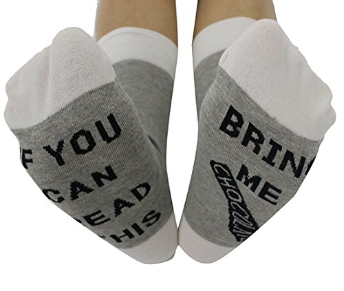 ONTBYB IF You Can Read This Bring Me Chocolate Unisex Funny Christmas Gift Socks