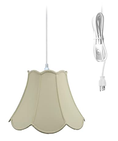 Strange Plug In Pendant Light By Home Concept Hanging Swag Lamp Eggshell Shade Perfect For Apartments Dorms No Wiring Needed Eggshell White One Light Wiring Digital Resources Hutpapmognl