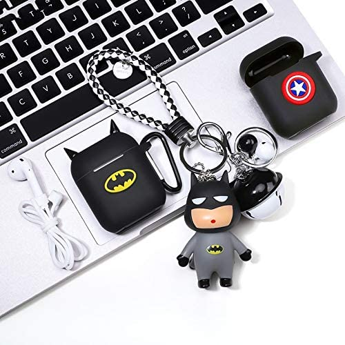 HJAZ Airpods Protective Cover airpod2 Generation Wireless Bluetooth Headset Set Silicone Cartoon Creative Pendant Protect Your Bluetooth Headset from harm Style : B
