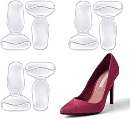 Heel Cushions /& Cups Liner Pads Liners Grips Inserts For Shoes Too Big Women Fit